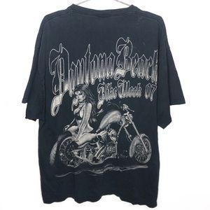 Daytona Beach Vintage Bike Week Faded Black Shirt